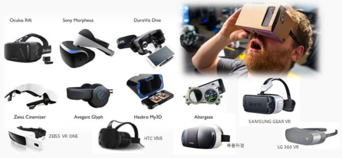 오큘러스 리프트, 삼성 기어 VR을 비롯해 다양한 가격대의 VR헤드셋이 출시되고 있다.